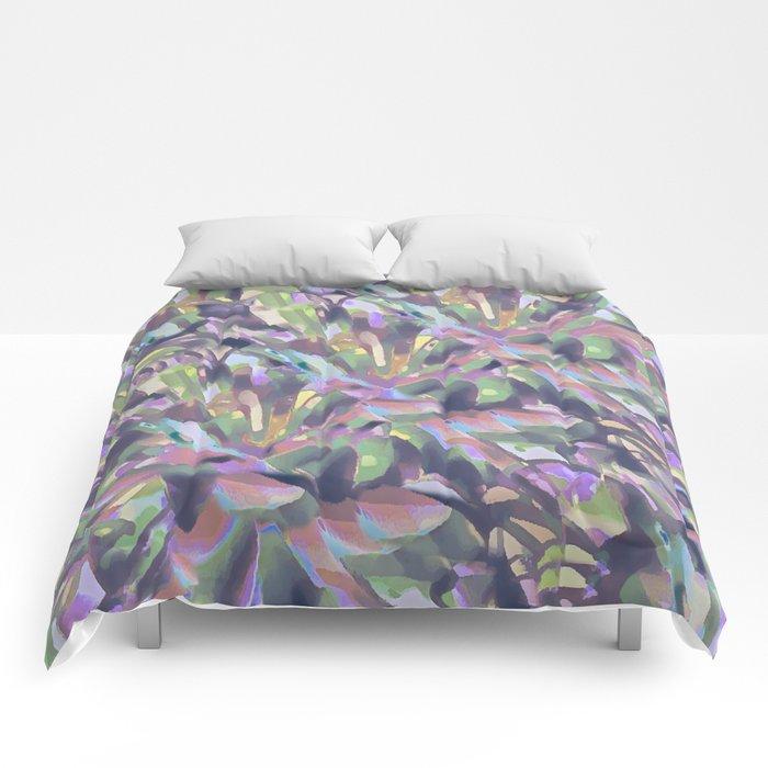 Soft Pastel Garden Abstract  Comforters