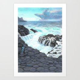 Queens Bath Kauai Art Print