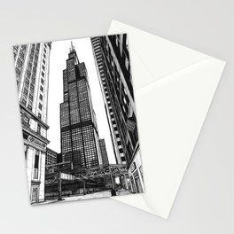 On the Shoulders of Giants - Original Drawing Stationery Cards