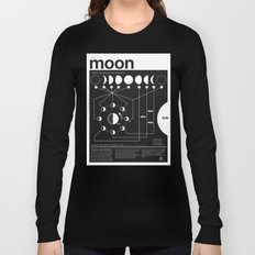 Phases of the Moon infographic Long Sleeve T-shirt