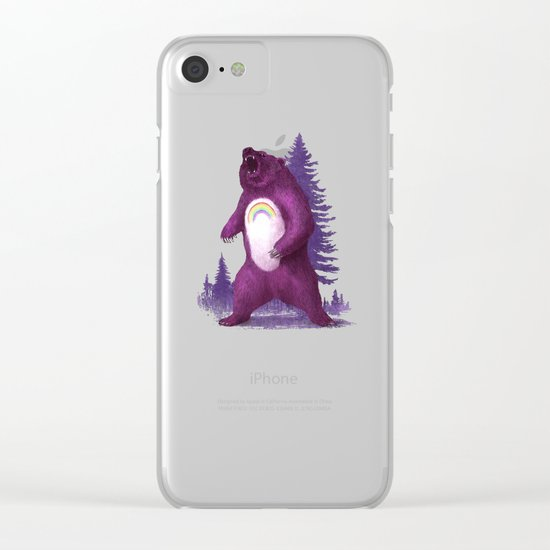 Scare Bear Clear iPhone Case