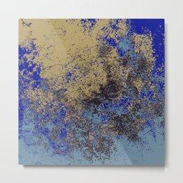 Coromah - Abstract Bohemian Camouflage Tie-Dye Style Art Metal Print