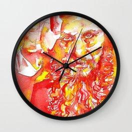 GRIGORI RASPUTIN - watercolor portrait.1 Wall Clock