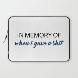 In Memory Laptop Sleeve