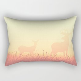 sunset in the meadow Rectangular Pillow