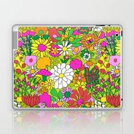 60's Groovy Garden in Lime Green Laptop & iPad Skin