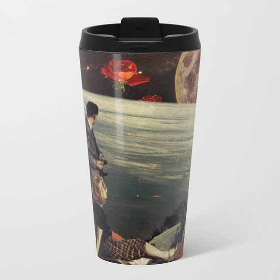 The Roses Came Metal Travel Mug
