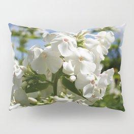 White Flowers & Blue Sky Pillow Sham