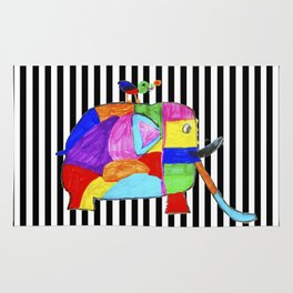 Rainbow Elephant by Elisavet | #society6 Rug