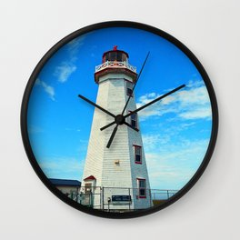 North Cape Lighthouse window wall Wall Clock