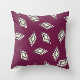 Rhombus jewel Throw Pillow