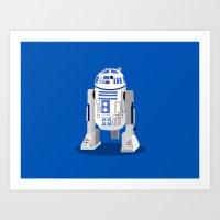r2d2 Art Prints featuring R2D2 by Karen Mercado