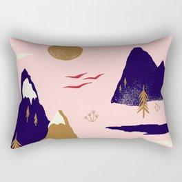 Mountain Scape Rectangular Pillow