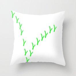 V wie Vegan   (A7 B0076) Throw Pillow