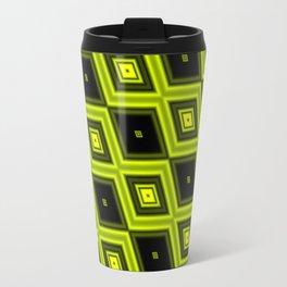 Black and Yellow Diamonds Travel Mug