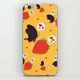 the death loves the strawberry iPhone Skin