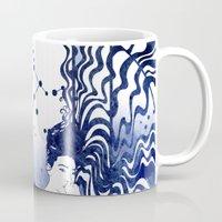 gemini Mugs featuring Gemini by Stevyn Llewellyn