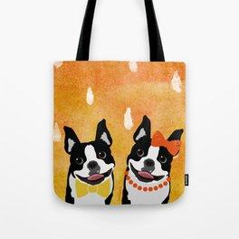 Boston Terriers Watercolor Tote Bag