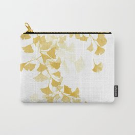 Yellow Ginkgo Leaves Watercolor Painting Carry-All Pouch