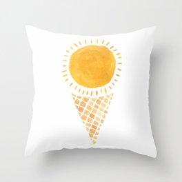 Sun Ice Cream Cone Throw Pillow