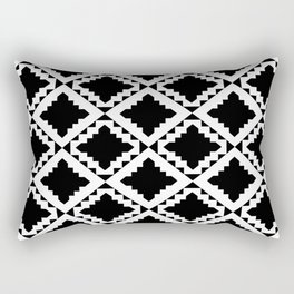 Modern Black Rectangular Pillow