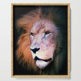 Portrait of a Lion Serving Tray