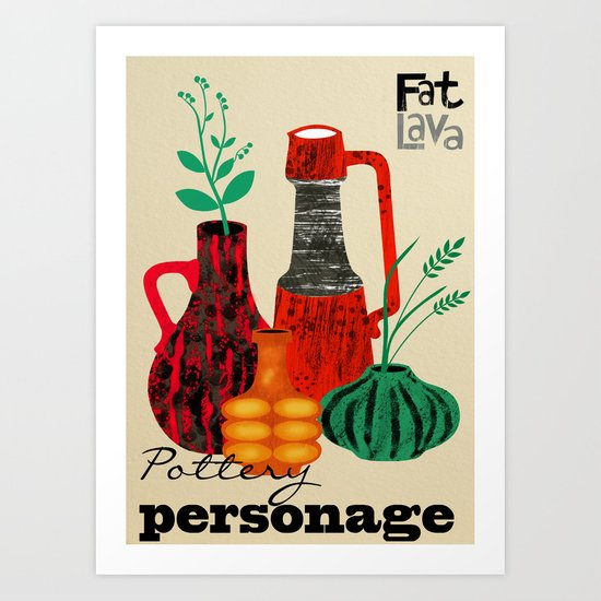 Pottery Personage Art Print
