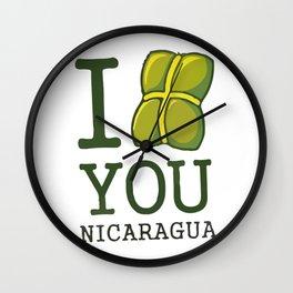 I nacatamal You Nicaragua Wall Clock