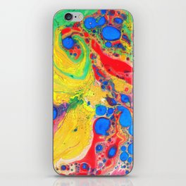 Marbling, Tie Dye Effect Abstract Pattern iPhone Skin