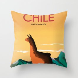 Antofagasta Chile | Vintage Travel Poster | Enhanced Matte Paper perfect for your wall ! Throw Pillow