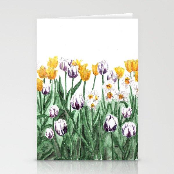 Tulip watercolor art yellow flowers painting purple flowers tulip watercolor art yellow flowers painting purple flowers garden art stationery cards mightylinksfo