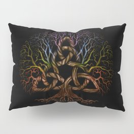 Colorful Tree of life with Triquetra Pillow Sham