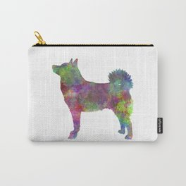 Norwegian Buhund in watercolor Carry-All Pouch