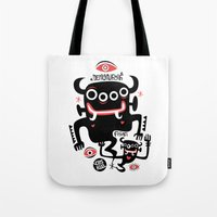 asian Tote Bags featuring Asian Demons by Ceskus