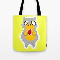 racoon Tote Bags featuring Racoon by Jessica Slater Design & Illustration