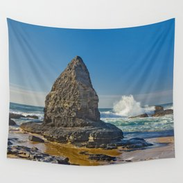 A rock formation on the Costa Vicentina, Portugal Wall Tapestry