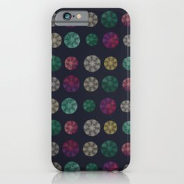 Starry-Lace Mandala Festival (tiny stars, flower and lace repeated round shape) iPhone Case