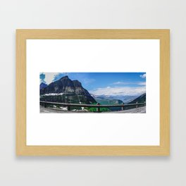 Going to the Sun Road, Glacier National Park Framed Art Print