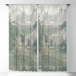 Peaceful Mountains   Landscape Photography Alps   Print Art Sheer Curtain