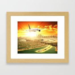 traveling in dubai Framed Art Print