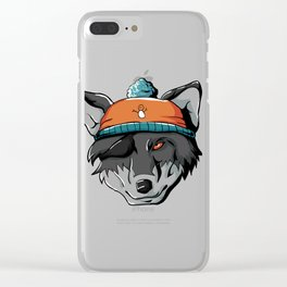 Winter Wolf Wild Dog Wolf Pack Mountains Cold Snow Clear iPhone Case