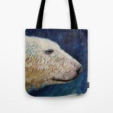 Polar Bear Stars Tote Bag