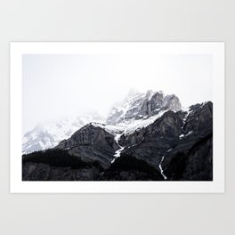 Moody snow capped Mountain Peaks - Nature Photography Art Print