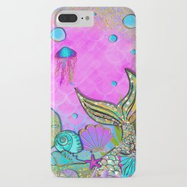Pink Sparkly Sea iPhone Case