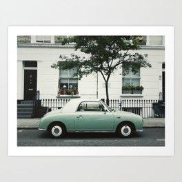LondonRetroCar Art Print
