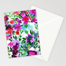 Evie Floral Magenta Stationery Cards