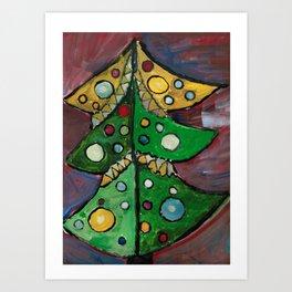A Xmas Tree Art Print