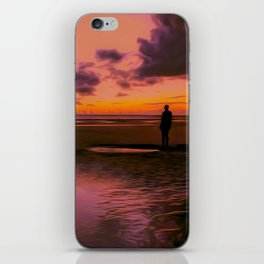 Another place at sunset iPhone Skin