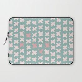 Contemporary X Paint Cross stich Mint Pink Pattern Laptop Sleeve