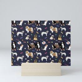 Colorful Dog Pattern Mini Art Print